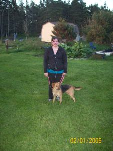Ember and I just after our outing.
