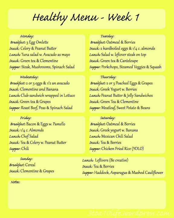 Healthy meal plans for two